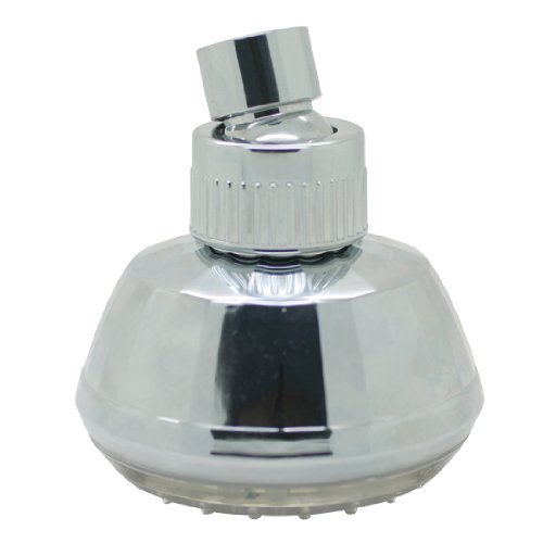 Stylish LED Color Changing Showerhead ABS Chrome Surface, 3 Inch Wall-mount LED Beads Light Like Disco, Add Fun to Shower