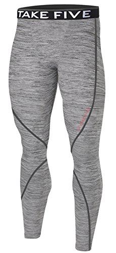 New Men Sports Apparel Skin Tights Compression Base Under Layer Long Pants (XL, NP504 GRAY)