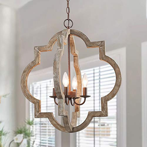 LOG-BARN-Large-Farmhouse-Chandelier-Handmade-Wood-4-Lights-Fixtures-Hanging-for-Dining-Bedrooms-Living-Rooms-and-Hallway