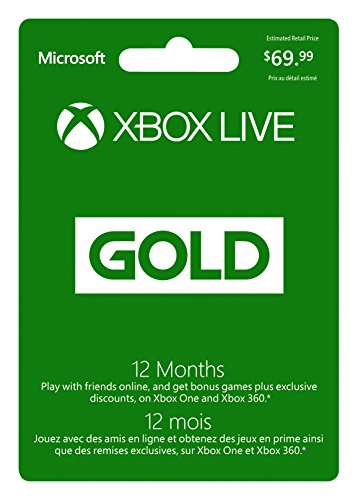 Microsoft Xbox LIVE 12 Month Gold Membership (Physical Card) - 12 Months Edition