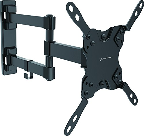 GForce Full Motion TV Wall Mount for Most 13' - 42' Inch LED, LCD and Plasma TVs - VESA Compatible - 20Kg/44LBS Weight Capacity - Black