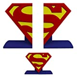 DC Comics Superman Logo Bookends Statue, Red/Yellow/Blue