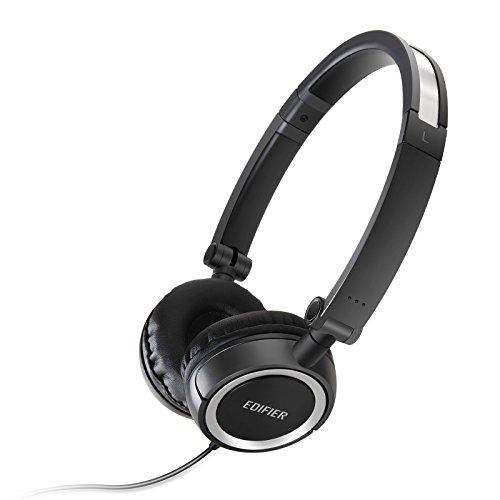 Edifier H650 Headphones - Hi-Fi On-Ear Foldable Noise-Isolating Stereo Headphone, Ultralight and Tri-fold Portable - Black