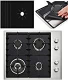 5 PACK PREMIUM Black Gas Stove Burner Covers - Stove Top Liner - Gas Range Protector - Stove Burner Covers - Double Thickness 0.2mm - Reusable & Dishwasher Safe. SET OF 5!