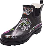 NORTY - Womens Ankle High Skulls Print Boot, Black 40925-8B(M) US