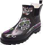 NORTY - Womens Ankle High Skulls Print Boot, Black 40925-9B(M) US