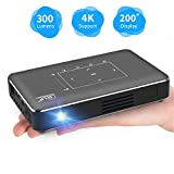 Pico Portable Projector, Haidiscool Mini Pocket Video Smart Phone DLP Android Projector 300 ANSI Lumen with Bluetooth/USB/HDMI/2GB RAM, Support 1080P 4K Movie, for Outdoor/Home Cinema Entertainment