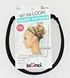 Scunci Double Hairband Trend Alert No Slip Gripe Spit Headband, Elastic and Volume Tool, 0.8 Ounce