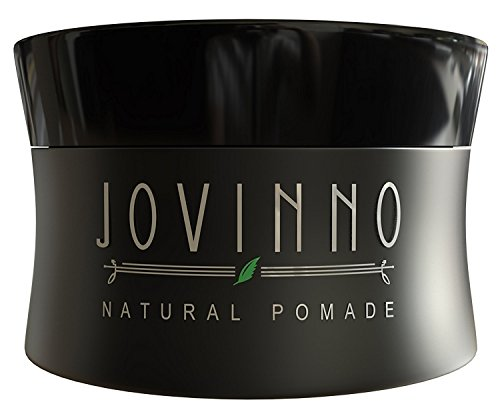 Jovinno Natural Premium Hair Styling Pomade/Hair Wax - Medium to Strong Hold Clear Thick Formula Non-Greasy Water Soluble. Made in France. 5oz (Pack of 1)