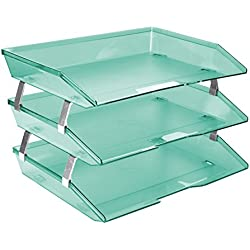 Acrimet Facility Triple Letter Tray (Clear Green Color)