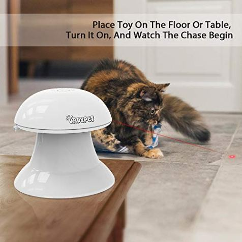DADYPET-Cat-Laser-Toy-2-in-1-Automatic-Non-Handheld-Cat-Chaser-Toy-and-Interactive-Feather-Toy-Auto-Rotating-Light-Cat-Chaser-Toy-for-Cats-and-Dogs
