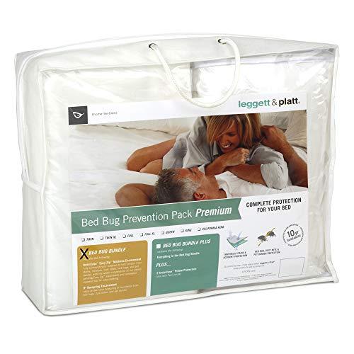 Leggett & Platt Sleep Calm 3-Piece Premium Bed Bug Prevention Pack with Easy Zip Mattress and Zippered Box Spring Encasement, King