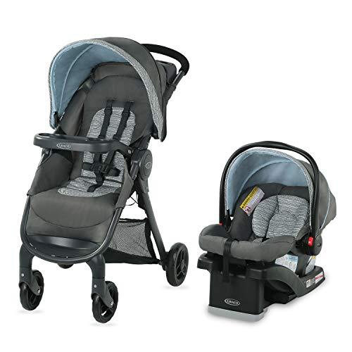 Graco FastAction SE Travel System | Includes FastAction SE Stroller and SnugRide 30 LX Infant Car Seat, Carbie