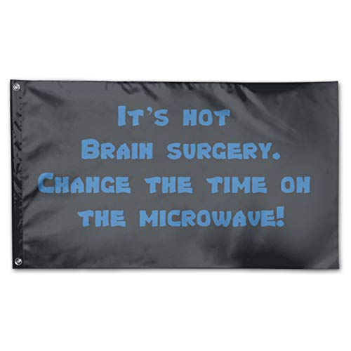 JNJUY Change The Time On The Microwave 3x5 Foot Flags Polyester Banner