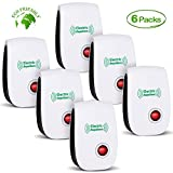 VEPOWER 2019 Newest Pest Control Ultrasonic Repellent Electronic Repeller Indoor Plug in Mosquito Control for Bugs and Insects Mice Mosquito Spider Rodent Roach, Child and Pets Safe Control (6 Pack)
