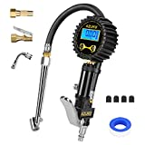 AZUNO Digital Tire Inflator with Pressure Gauge, 0.1 Resolution Tire Gauge, Heavy Duty Air Compressor Accessories 7pcs Great Gifts for Auto Mechanic