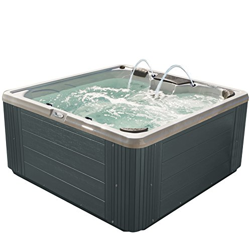 Essential Hot Tubs 30 Jets Adelaide Hot Tub, Gray