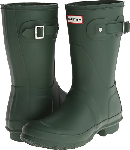 Hunter Womens Original Short Hunter Green Rain Boot - 8 B(M) US