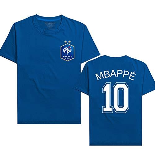 online store 28719 ce8dd Manche Courte T-Shirt No.10 Mbappe Foot Les Équipe Française Youth à  Encolure Ras du Cou Unisex éTé Sports Et Loisirs