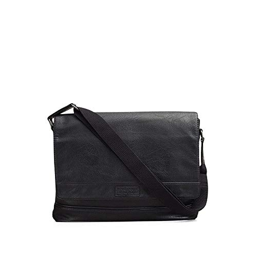 Kenneth Cole REACTION Laptop Messenger Bag, Black, One Size