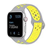 SMEECO Compatible with iWatch Band 38mm 40mm M/L,Soft Breathable Silicone Strap Replacement iWatch Bands for iWatch Series 4,Series 3, Series 2, Series 1 Sport Nike