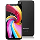 Cell Phones Unlocked Blackview A30 16GB ROM 3G Mobile Phones 5.5'(19: 9) Full Screen 5+8MP Dual Cameras 2GB RAM 2500mAh Battery SIM Free Smartphone Dual SIM for AT&T/T-Mobile Face Recognition (Black)