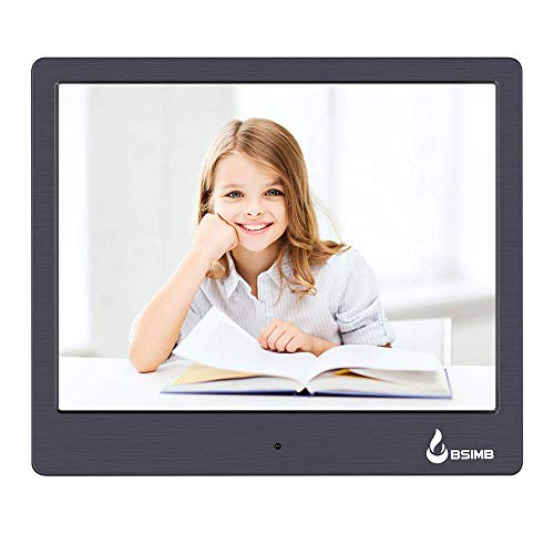 BSIMB M12 Digital Picture Frame Digital Photo Frame 8' LED Display Hi-Res Digital Photo & HD Video Frame and USB/SD Card Playback Infrared Remote Control