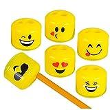 Play Kreative Emoji Pencil and Crayon Sharpeners 24 Pack