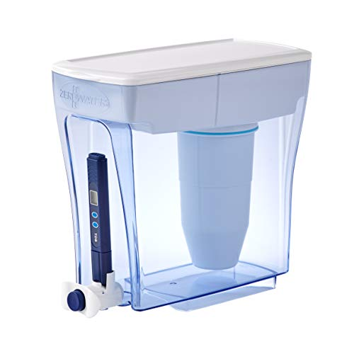 ZeroWater ZD-20RP, 20 Cup Ready-Pour Water Filter Dispenser with Water Quality Meter