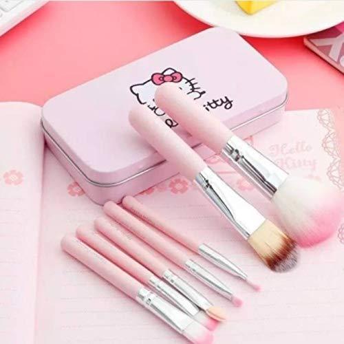 Hello Kitty Spanking Mini 7 Piece Brush Set for Women (Pink)