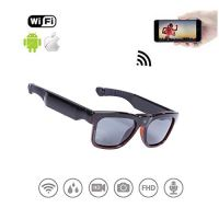 WiFi Live Streaming Video Sunglasses, Streaming Videos & Photos from Glasses to Mobile Phone by App with Ultra Full HD…