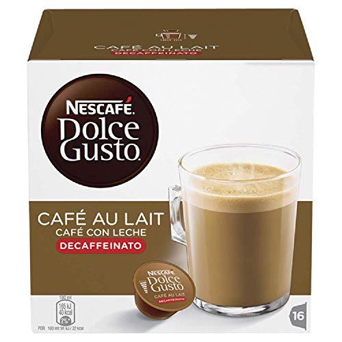 Nestlé Nescafe Dolce Gusto Coffee Pods - Decaffeinated Café au Lait Flavor - Choose Quantity (1 Pack (16 Capsules))