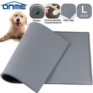 ONME Dog Feeding Mat, FDA Grade Silicone Waterproof Pet Food Mat, Non Slip Dog Bowl Placemat