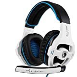 Xbox One Gaming Headset Stereo Over Ear Gaming Headset with Mic Noise Cancelling Volume Control for Xbox One/PC/Mac/PS4/Nintendo(White)