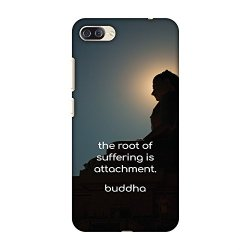 AMZER Slim Fit Handcrafted Designer Printed Hard Shell Case Back Cover for Asus Zenfone 4 Max, Pro, Plus ZC554KL - Buddha Quotes 5