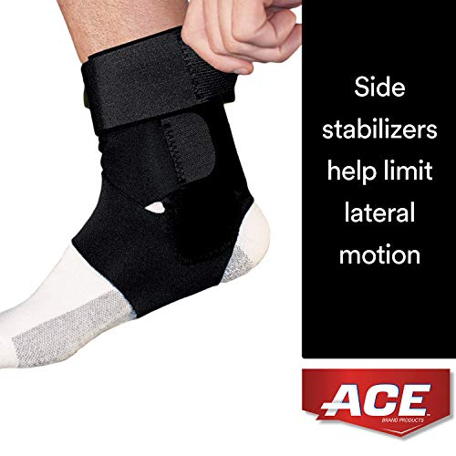 ACE Brand Deluxe Ankle Stabilizer, America's Most Trusted Brand of Braces and Supports, Money Back Satisfaction Guarantee