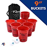 Jumbo Beer Pong Set for Outdoors - Fun Drinking Games for Adults, College Kids - Jumbo Cup and Pong Throwing Game for Yard, Party, Bar, Lawn, Backyard, Tailgating - Fun Outside Games