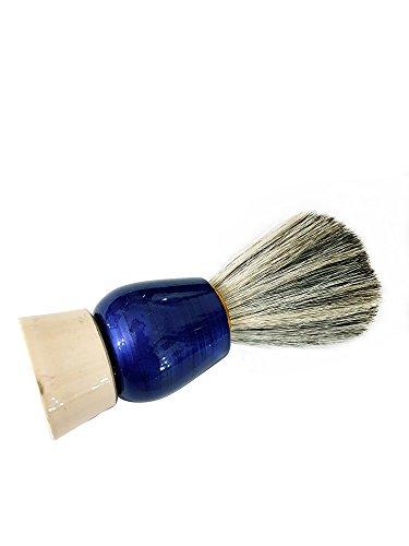 Natural Wood Handle Soft Bristle Shaving Brush for Men Salon Hairdressing Hair Beard Cutting Dust Cleansing Tool- Beard Shaving Brush (Blue) 9