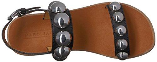 41Y6gF1jcuL Flat sandal featuring vegetal leather straps embellished with oversized metallic studs Adjustable ankle strap