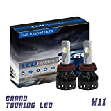 H11/H8/H9 LED Headlight Bulb | Direct Fit Replacement | Built-in Projector lens and Phillips Zes LED chip | 12,000Lm Superior brightness and Extended Range | [All-in-One LED] - [1 YEAR WARRANTY]