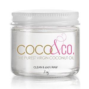Coconut Oil for Hair & Skin By COCO&CO. Beauty Grade 100% RAW (2oz) Mini Jar