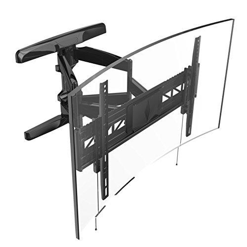Loctek Curved TV Wall Mount Bracket for 32-70' inch Articulating Full Motion Tilt Swivel Flat and Curved Screen TV