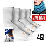 ARMORAY Arm Sleeves for Men or Women- Tattoo Cover - For Golf Running Cycling