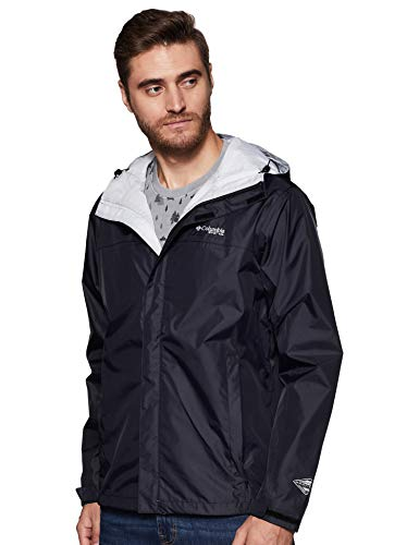 Columbia Sportswear Men's PFG Storm Jacket, X-Large, Black/Cool Grey