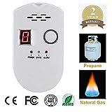 Propane/Natural Digital Gas Detector, Home Gas Alarm, Gas Leak Detector,High Sensitivity LPG LNG Coal Natural Gas Leak Detection, Alarm Monitor Sensor Home/Kitchen