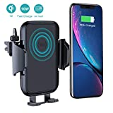 VANMASS Car Wireless Charger Mount, Air Vent Phone Holder, 10W Qi Fast Charger, Auto Charging Compatible with Samsung S10/ Note 9/8/S9/S8, iPhone Xs Max/Xs/XR/X/ 8/8 Plus & Qi-Enabled Phone