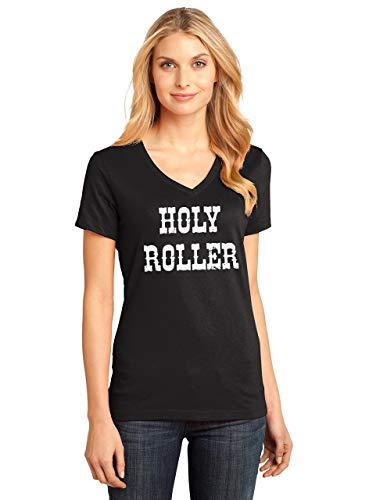 Comical-Shirt-Ladies-Holy-Roller-V-Neck-Tee