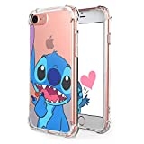 Logee Sweet Stitch TPU Cute Cartoon Clear Case for iPhone SE/5S /5/5G,Fun Kawaii Animal Soft Protective Cover,Ultra-Thin Shockproof Funny Creative Character Cases for Kids Teens Girls Boys (iPhoneSE)