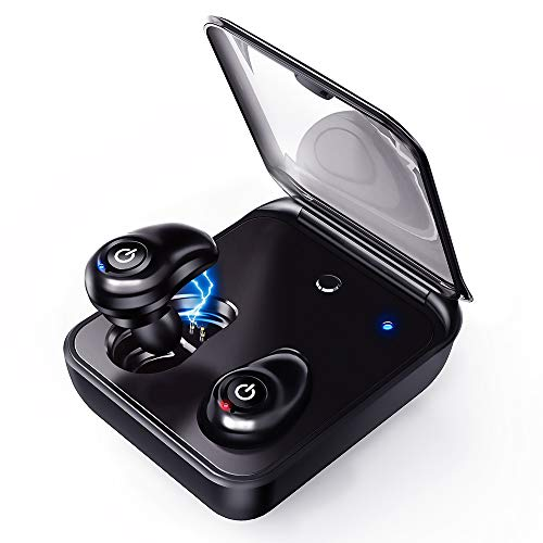 Upgraded Wireless Earbuds, Magnetic Bluetooth 5.0 Stereo Sound Earphones, Bluetooth Earbuds, Dual Built-in Mic Auto Pairing Headphones, 2000mAh Charging Case as Power Bank, for Most Bluetooth Devices