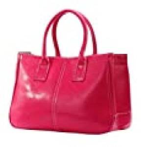 MissFox Korea Simple Style PU leather Clutch Handbag Bag Totes Purse Rose 1